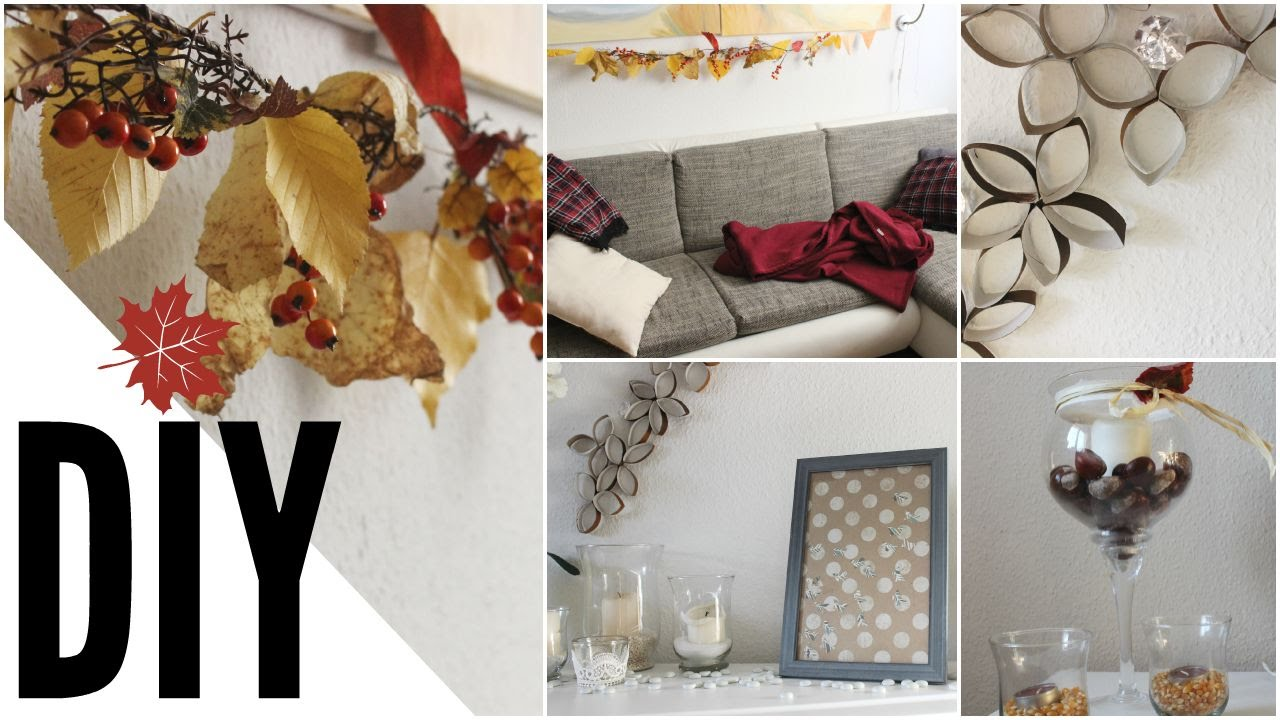 DIY Herbst Raumgestaltung DEKO I Autumn Room  YouTube