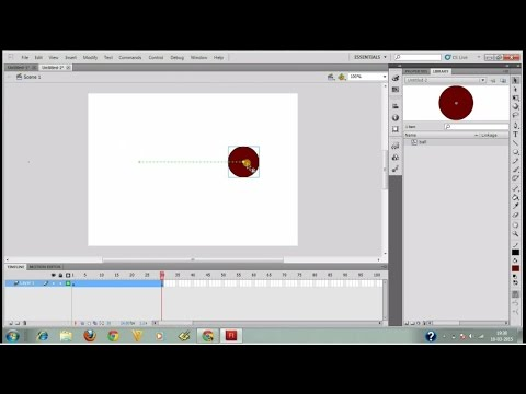 start animation with flash(adobe flash professional CS5)