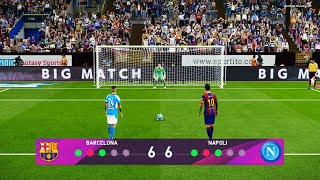 Barcelona vs napoli | penalty shootout pes 2020 gameplay pc