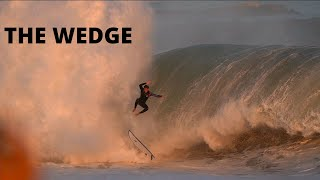 THE WEDGE FLOODS the STREETS of NEWPORT BEACH - RAW FOOTAGE