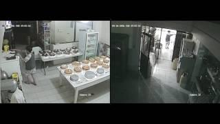 Terremoto en Ecuador 7.8 : Chone/Manabí, Video del momento del temblor en una pasteleria