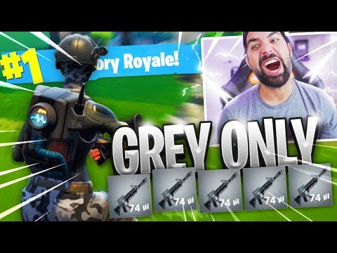 I DID IT!!! - GREY WEAPONS ONLY CHALLENGE in Fortnite: Battle Royale