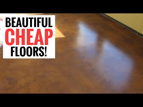Amazingly cheap and stunning floors - DIY Stained Concrete - YouTube
