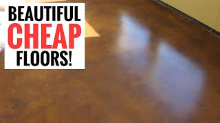 Amazingly Cheap And Stunning Floors - Diy Stained Concrete