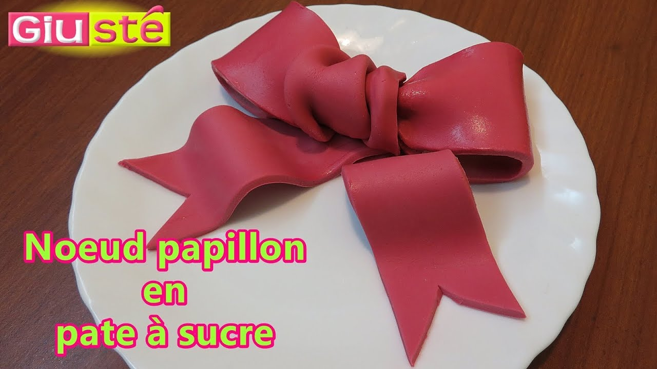 noeud papillon en p 226 te 224 sucre tutoriel