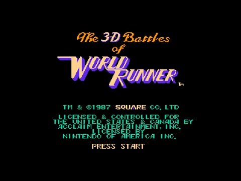 (Real 3D) The 3-D Battles of WorldRunner - NES Longplay (Famicom 3D)