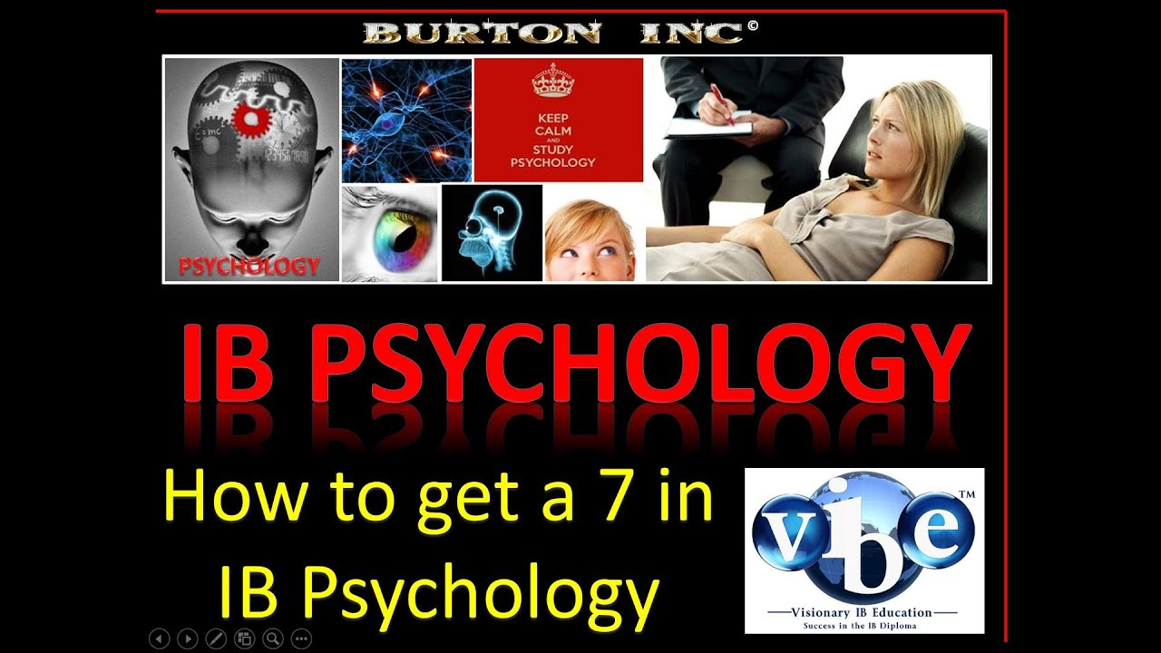 paper on psychology ib Paper 1 is the first of the examination papers in psychology it covers the core of the course both standard and higher level students have 2 hours at their disposal for standard level students, paper 1 contributes 50% to the final grade it is structured as follows note that a question may have.