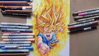 Drawing Goku Kid Super Saiyan  (Dragon Ball GT)