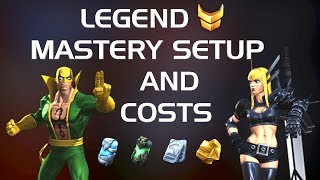 Legend Mastery Setup and Costs | Marvel Contest of Champions