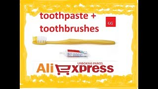 Travel Toothbrushes+Toothpaste
