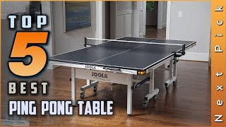 Top 5 Best Ping Pong Tables Review in 2021