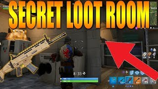 SECRET LOOT ROOM IN SNOBBY SHORES Fortnite Battle Royale Best Place To Land