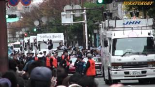 2011年12月11日に福岡ソフトバンクホークス優勝祝賀パレードが福岡県福...