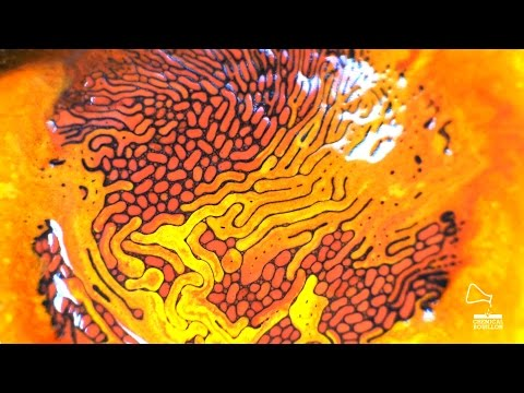 Adding Colour To Magnetic Ferrofluid Makes For Nightmarish Results - Attaching colourful smoke to drones has spectacular results