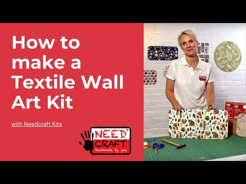 Textile Wall Art Kit - Turn your fabrics into Wall Art with these kits