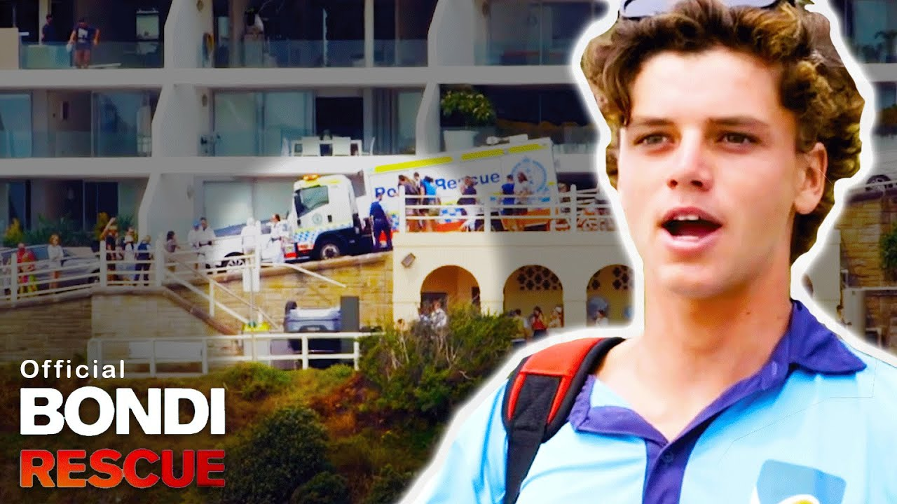 Car Flips And Crashes Onto Bondi Beach Season 15 Clip Youtube