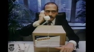 Funny 1980's Federal Express John Moschitta TV Commercial Fast Talker FedEx 1981