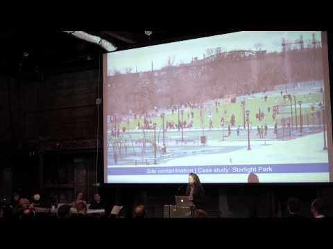 Maggie Scott Greenfield (Bronx River Alliance) at the Gowanus Design Summit 2014