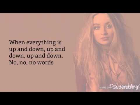 Sabrina Carpenter - No Words (lyrics)