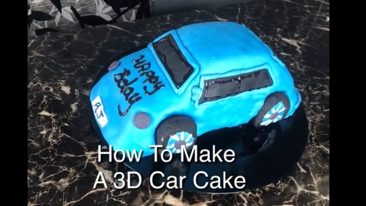 How To Make A 3d Car Cake Using The Wilton Cake Pan The Easy Way