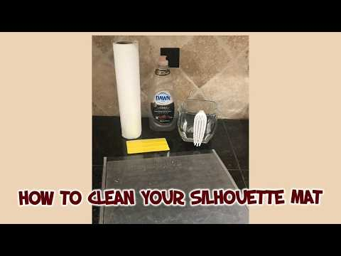 How To Clean Your Silhouette/Cricut Cutting Mat