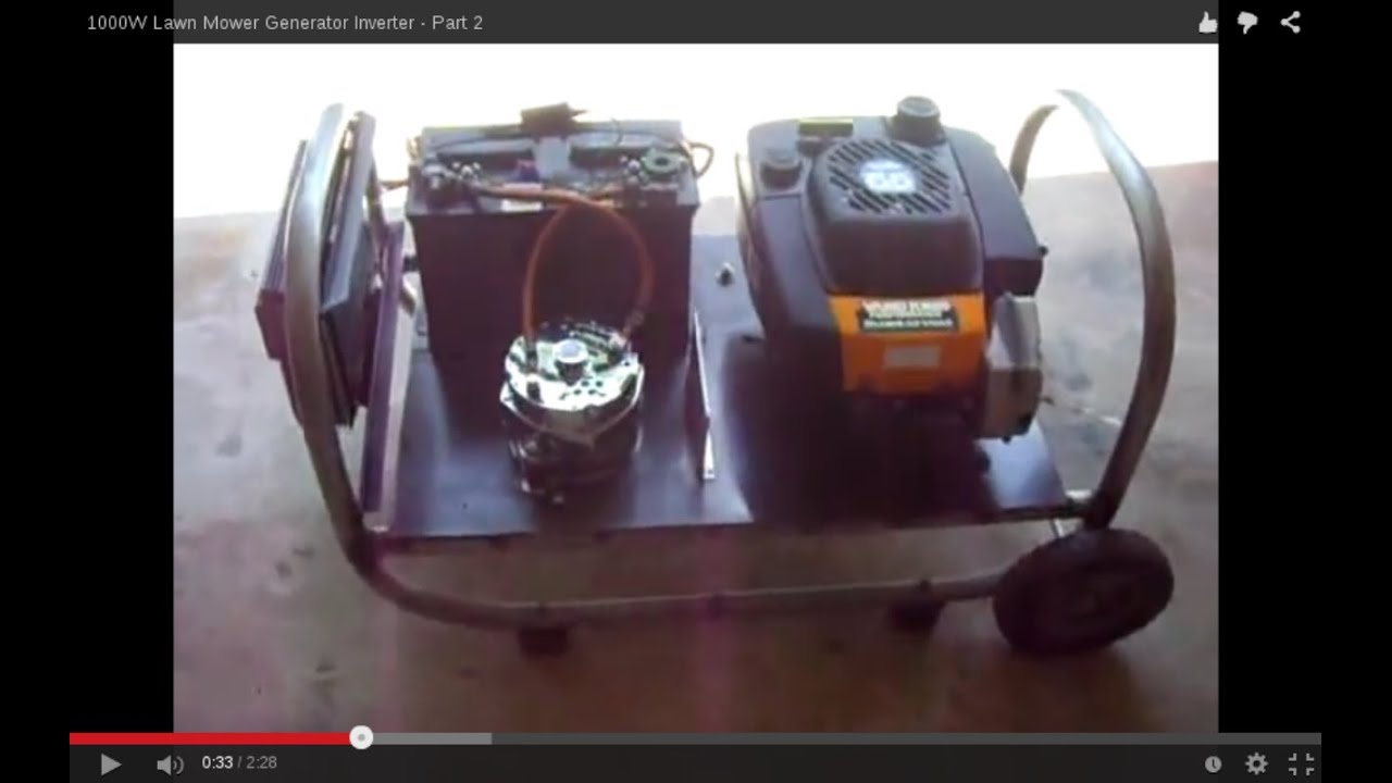 1000w Lawn Mower Generator Inverter Part 2 Youtube