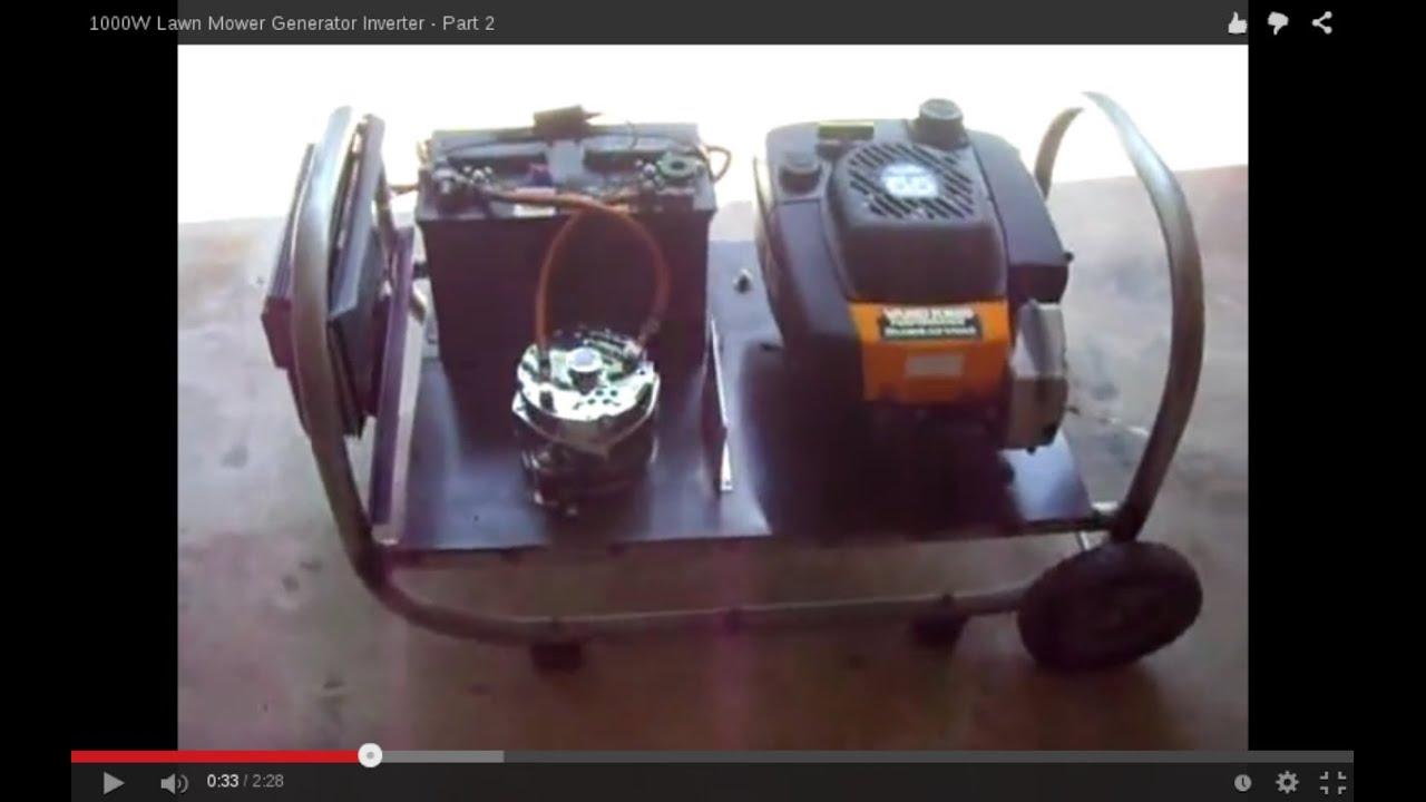 W Lawn Mower Generator Inverter