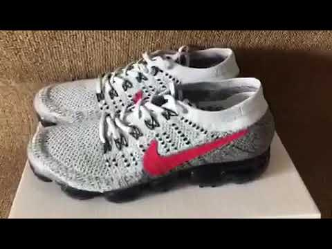 24b087093191d Grey red Nike air vapormax flyknit (mksole.cn) - YouTube
