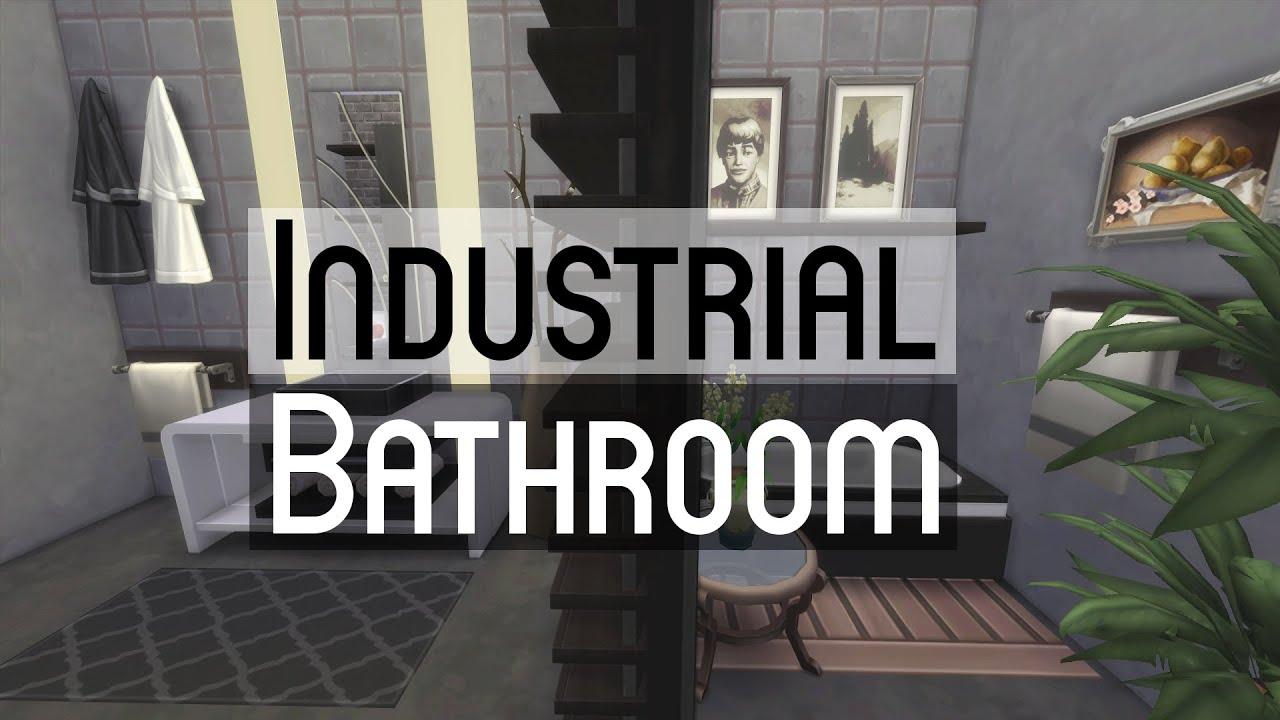 Beau The Sims 4 | Room Build   Industrial Bathroom