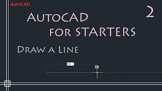 AutoCAD 2D tutorials - How to draw a Line (simple and easy)
