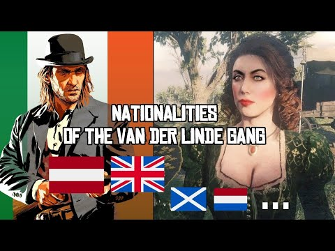 RED DEAD REDEMPTION 2 ☆ CHARACTERS NATIONALITIES ☆ VAN DER LINDE GANG EVERY NATIONALITY ( DUTCH ...)