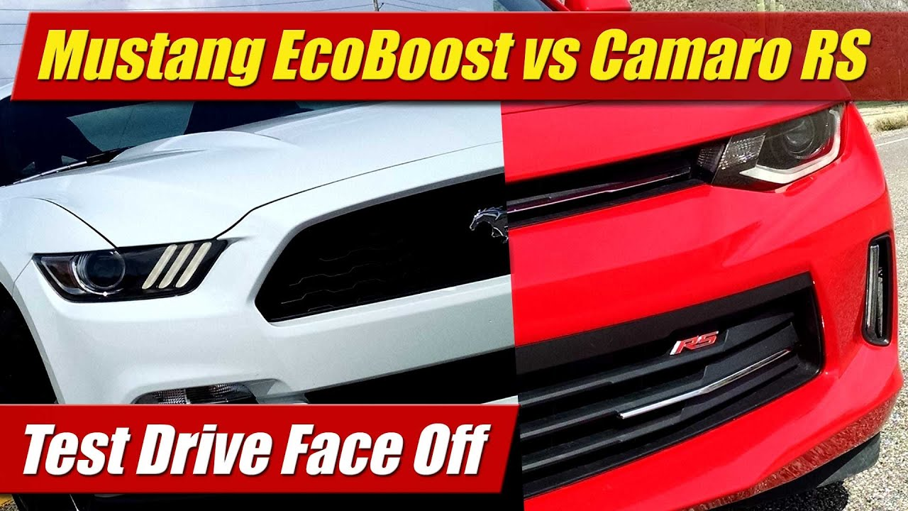 Face Off Mustang EcoBoost vs Camaro RS V6  YouTube