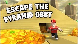 Roblox | thoat khoi kim TU thap va an cuop con gau vang:P | The World Escape the Pyramid Obby