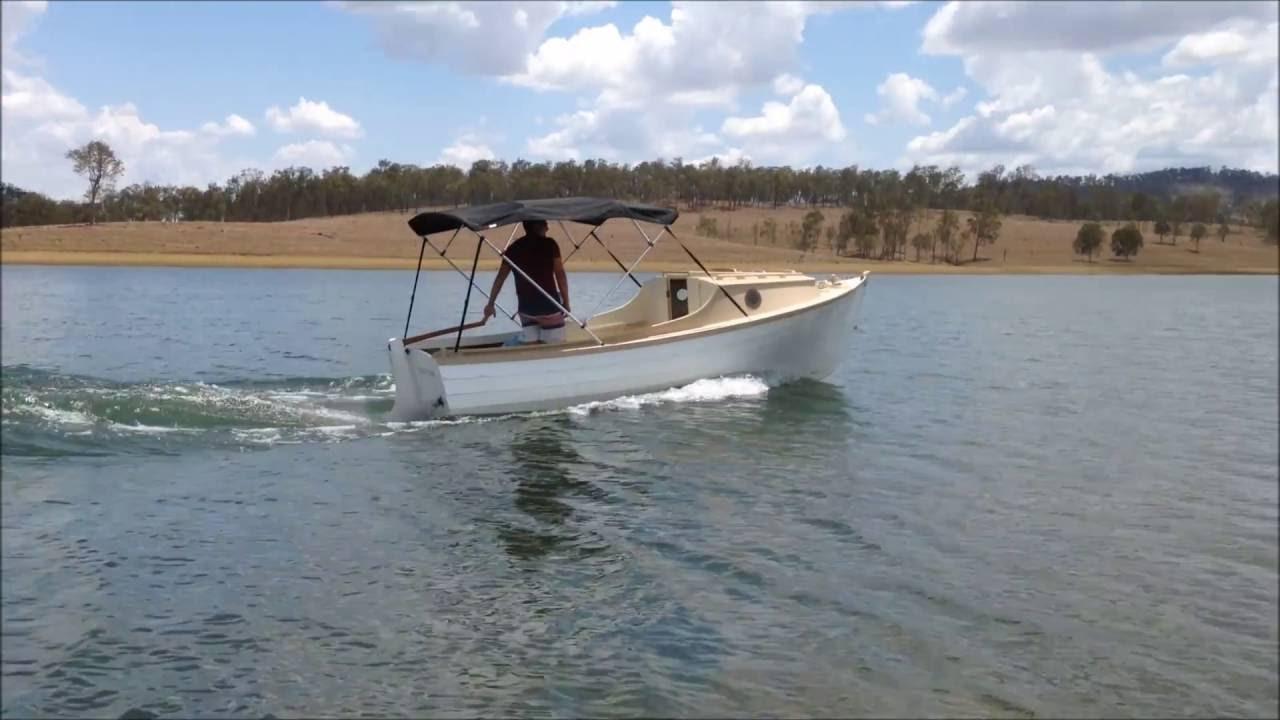 Instant Boats Phil Bolger : Phil bolger hope diesel lobsterboat youtube