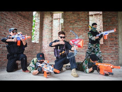 LTT Nerf War : Special Police SEAL X Warriors Nerf Guns Battle Attack criminal group