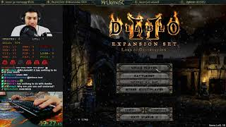Diablo 2 - Hell Hardcore Sorceress Speedrun - WR Attempt (12/04/2017)