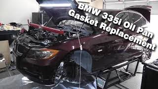 N54 oil pan and piston removal  Failure mode found