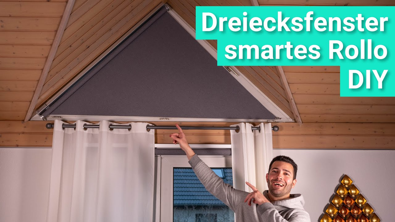 Diy Smarte Verdunklung Fur Dreiecksfenster Mit Dem Ikea Fyrtur Rollo Youtube