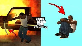 Secret Ninja Moves in GTA San Andreas! (Parkour and Magic Katana Fight with Police)