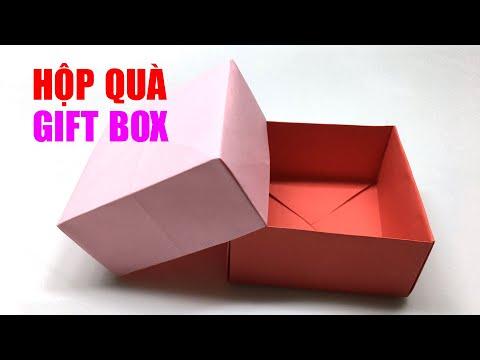 Cách gấp hộp quà đơn giản nhất I Gift Box | Foci