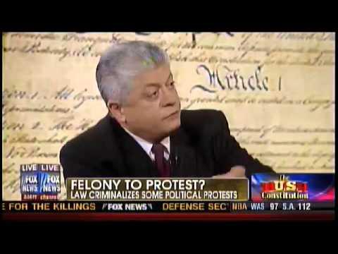 Obama Makes Free Speech a Felony ∞ Judge Napolitano Ron Paul HR 347 Tyranny Revolution 2012