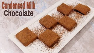 2 Ingredients Chocolate Truffle  Condensed Milk Chocolate Truffles Recipe  Food With Tehreem