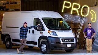 Starting a Custom Professional Van Build for MTB Adventures