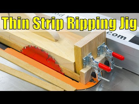 How to Make a Thin Strip Ripping Jig