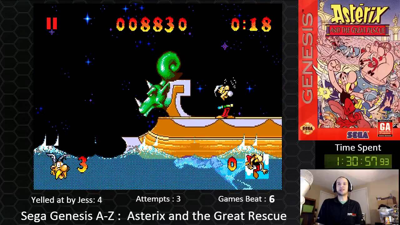 Sega Genesis A Z Asterix And The Great Resuce Journey
