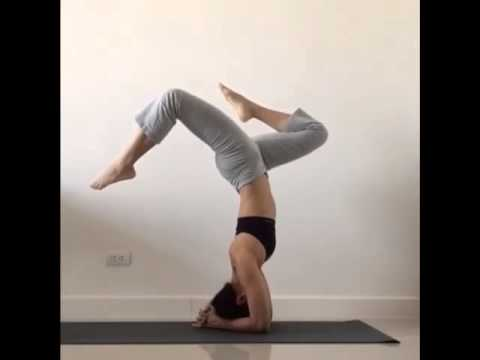 headstand to wheel pose  youtube
