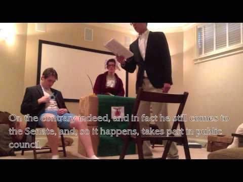 Latin Movie: Cicero's Catilinarian Oration