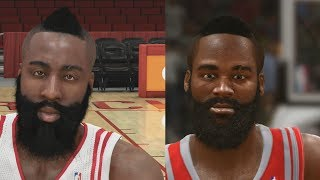 NBA 2K14 vs NBA LIVE 14 Graphics/Face Comparisons