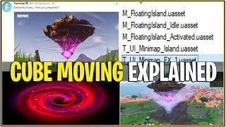 *NEW* Fortnite: CUBE ISLAND MOVING AROUND MAP *EXPLAINED* | (Leaked Locations)