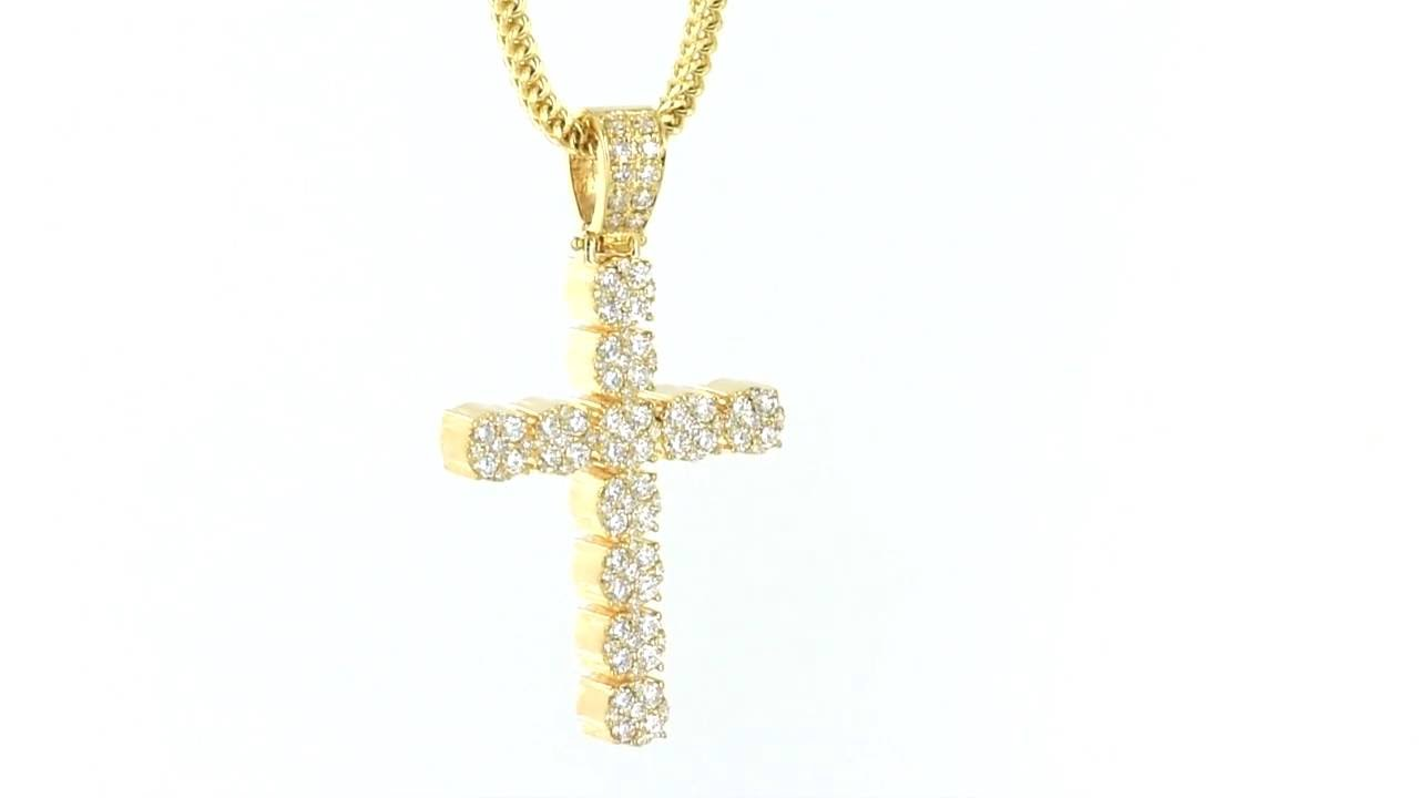 14k real solid gold genuine diamonds cross pendant 10k gold franco 14k real solid gold genuine diamonds cross pendant 10k gold franco chain item no 5616 mozeypictures Gallery